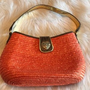Handbags - Orange straw purse